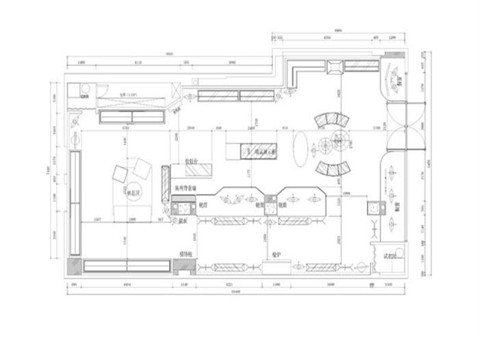 合肥服装店装修设计平面图