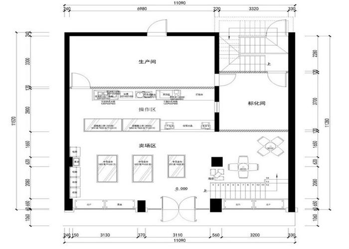 2014年5月2日,我们受业主姜先生之邀,为其准备经营的烘焙店进行室内空间的设计装修。我们所面对的是一栋已经建成的标准的三层店铺,总面积为280。现状平面规整,空间格局虽然紧凑,却显得较为刻板僵硬。公司随即成立了以郭工为首的项目团队与姜先生确定了项目量房时间。   2014年5月3日,郭工带领团队到现场并在姜先生的陪同下进行了测量,并且在现场就布局、设计、材料等进行了说明。    量房回来后,经过与姜先生的沟通,在对其面包店气氛的憧憬的充分了解的基础上,郭工就开始了紧张的设计工作。   2014年5月