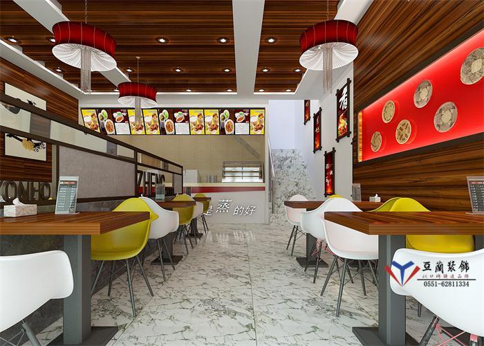 2014年9月12日,刘工带领团队到现场并在曾先生的陪同下进行了测量,并且在现场就布局、设计、材料等进行了说明。  量房回来后,经过与曾先生的沟通,在对其快餐店气氛的憧憬的充分了解的基础上,刘工就开始了紧张的设计工作。 2014年9月21日,经过近十天的工作后,刘工将快餐店装修平面图呈交给曾先生,并且给曾先生具体讲解了快餐店的布局规划。