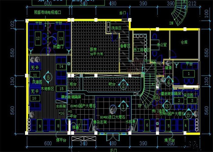 设计师付工详细地给安总介绍了咖啡厅的空间布局,对于咖啡屋的深层图片