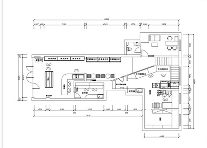 合肥面包店装修平面设计图纸