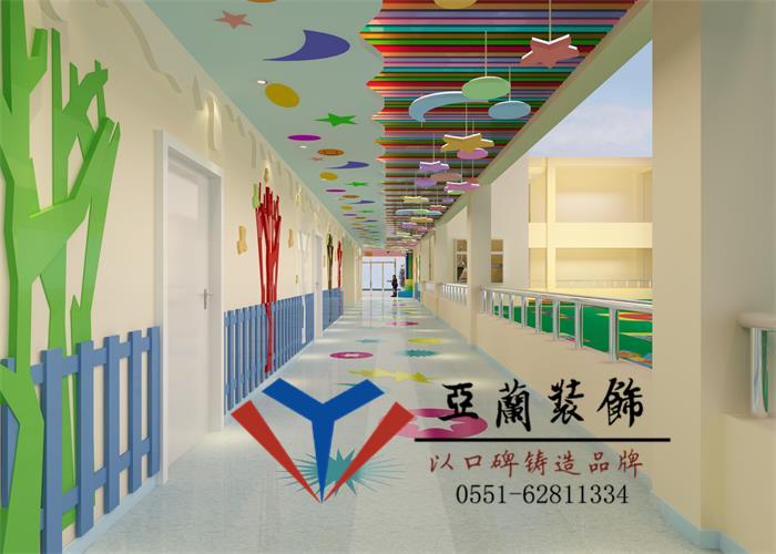 幼儿园教室墙面布置,风格活泼的的墙饰设计与儿童活泼好动的天